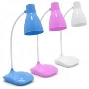 Luminária Abajur Touch Sem Fio 3 Níve Luz 16 Leds Haste Flexível
