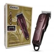 Maquina de Cortar cabelo Profissional Kemei Cordless Km-2600 Bivolt