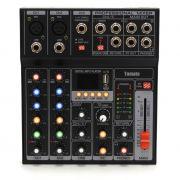 Mesa De Som 5 Canais MP3 Estéreos Efeitos USB Tomate TYT-005