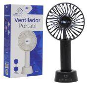 Mini Ventilador Portátil 3.7W Recarregável 3 Velocidades Luatek LS-907
