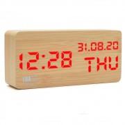 Relógio de Mesa em LED formato 12/24 e Temperatura Luatek ZB-1002