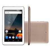 """Tablet M7S Plus Android 7 Memória Interna de 8gb Câmera de 2.0mp Wi-fi, Tela de 7"""" Dourado NB276 - Multilaser"""