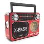 Rádio Portátil Reprodutor de som LE-665 Am/Fm/Usb/Sd Recarregavel c/ Lanterna – Lelong