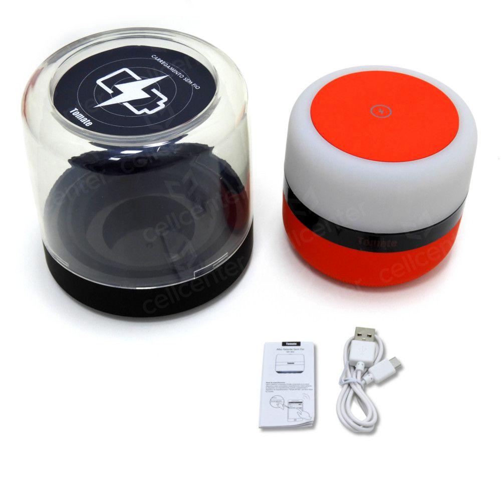 Abajur Caixa de som e Carregador Celular USB Aux. TF 5W Tomate MY-002