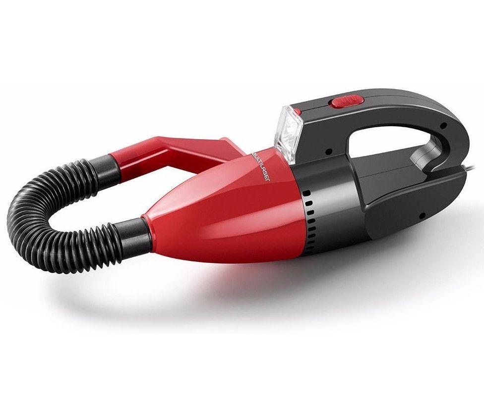 Aspirador De Pó Automotivo 60W 12V Vermelho Multilaser - AU607