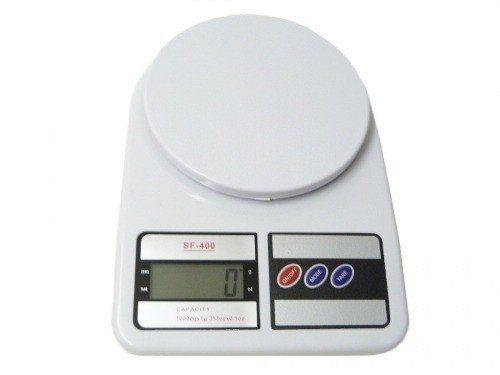 Balança De Precisão Digital Cozinha Bandeja Plástico 10kg