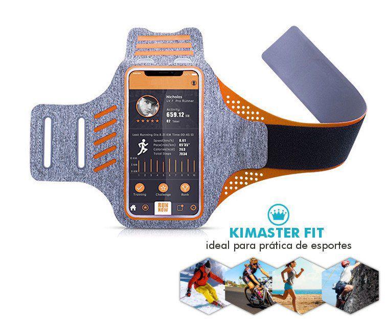 """Braçadeira esportiva para celular de até 6.3"""" AR21 Kimaster Fit"""