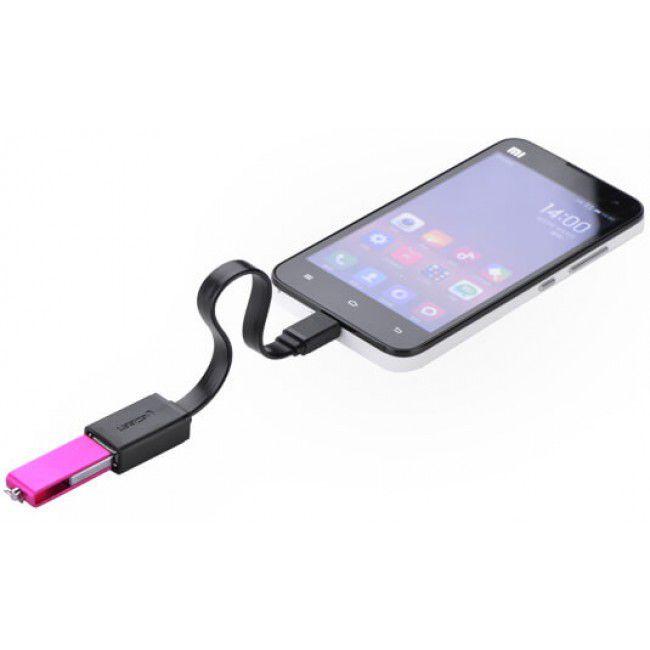 Cabo OTG Micro-USB P/ Smartphone Mouse Teclado Pen drive Tablets