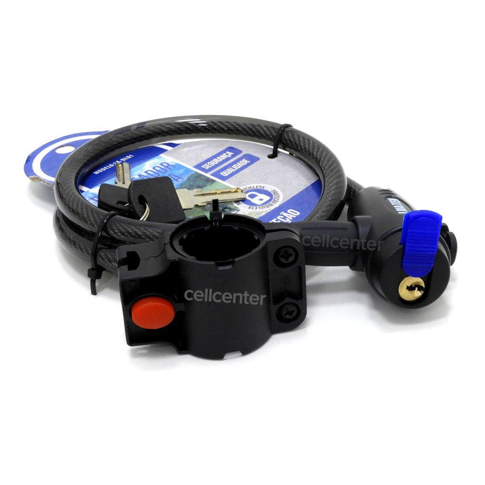 Cadeado de Segurança Para Bicicleta ou Moto 80 cm 2 Chaves LUATEK - LK-BL01