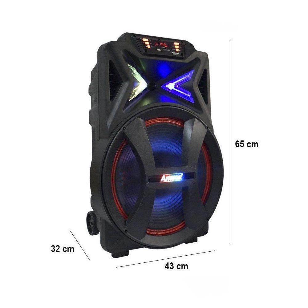 Caixa Amplificadora Bluetooth 500W RMS Entradas USB e Auxiliar Amvox ACA501 New
