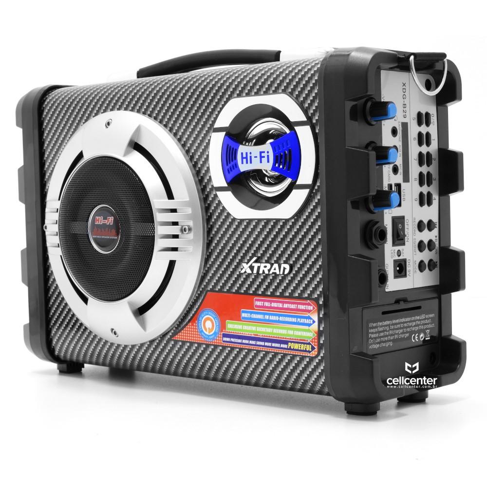 Caixa de Som Bluetooth 20W + 5W RMS Xtrad XDG-B29