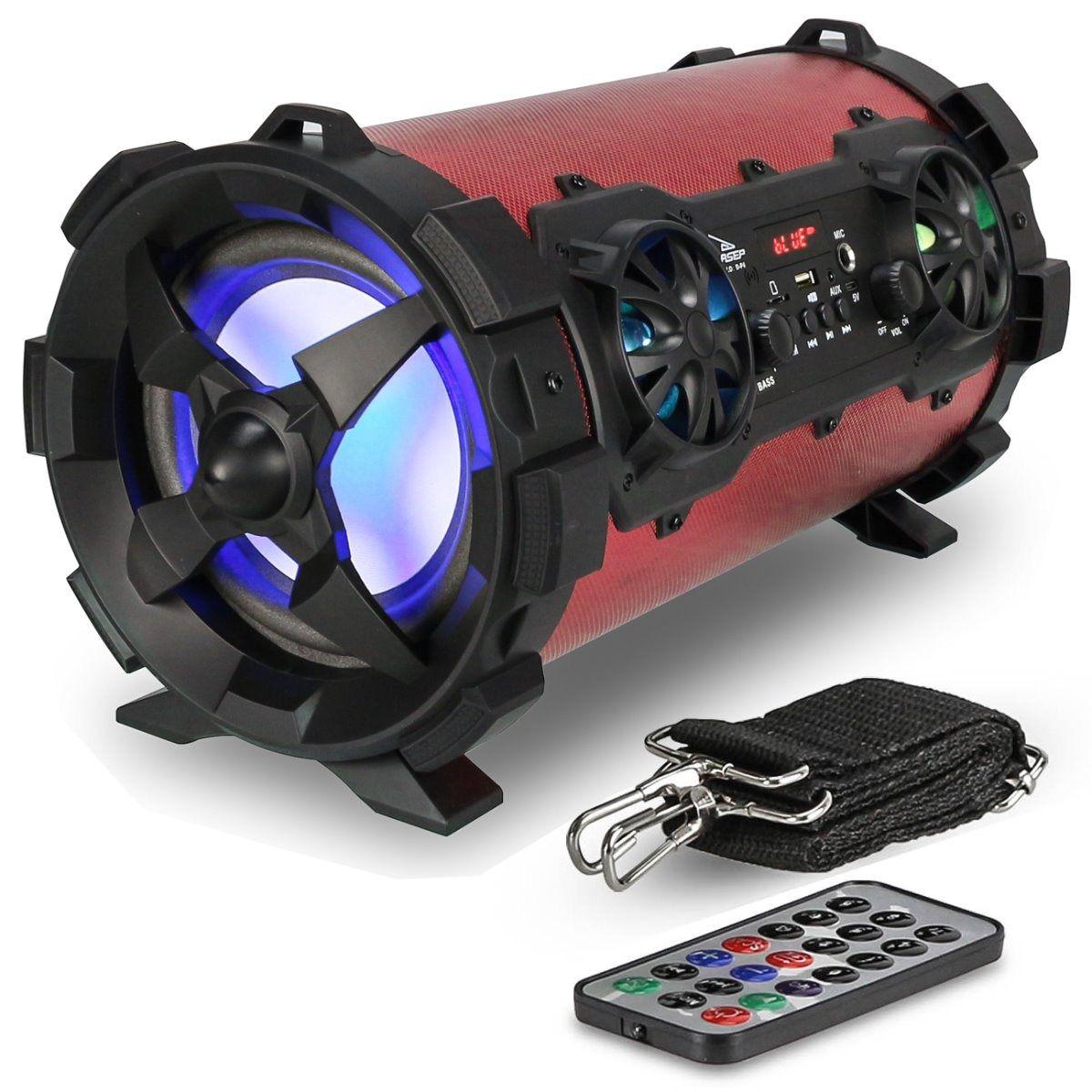Caixa De Som Bluetooth 30W Portátil Amplificada Fm SD Grasep D-p4