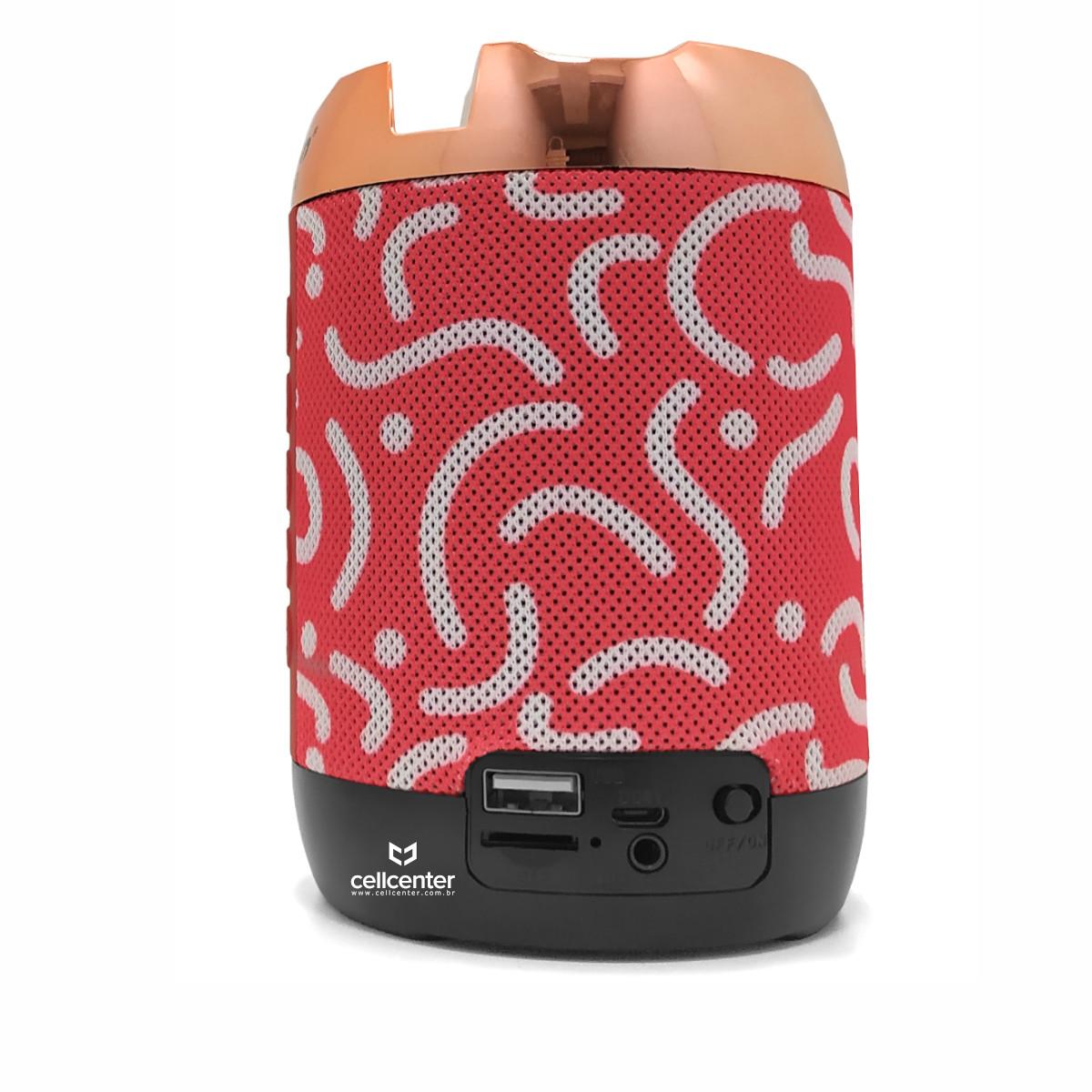 Caixa De Som Bluetooth 7W RMS Portátil Sd/USB/P2