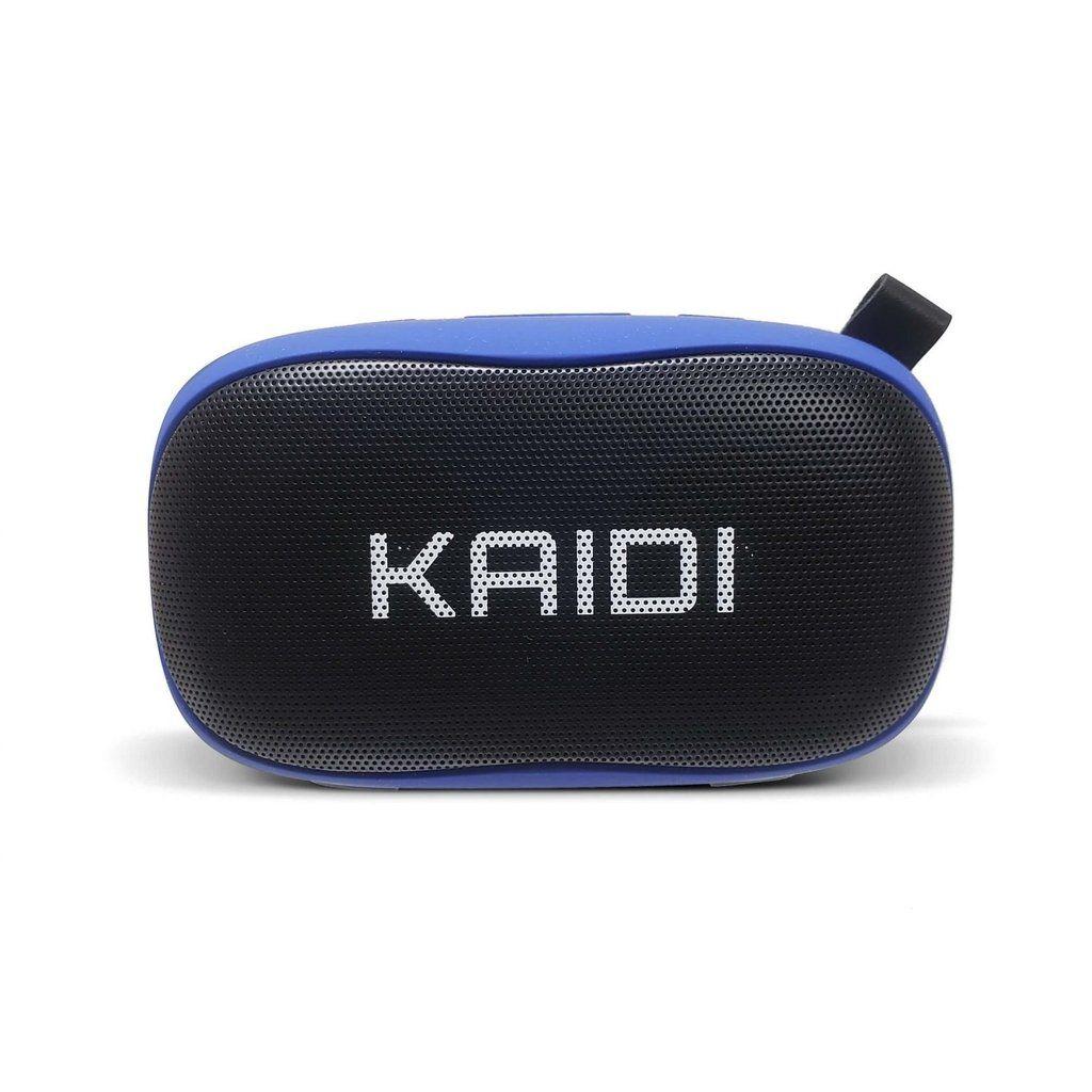 Caixa De Som Bluetooth Com Microfone FM 6Wrms Kaidi KD811 Preto/Azul