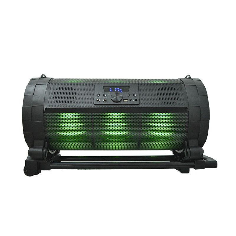 Caixa de som Bluetooth tunnerBox 400W Microfone FM LED Controle Hoopson RBM08