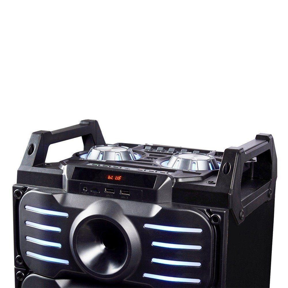 Caixa De Som DJ Mixer 350w Rms Bluetooth P2 USB Cartão Sd Radio Fm Bateria Recarregável Multilaser Sp285