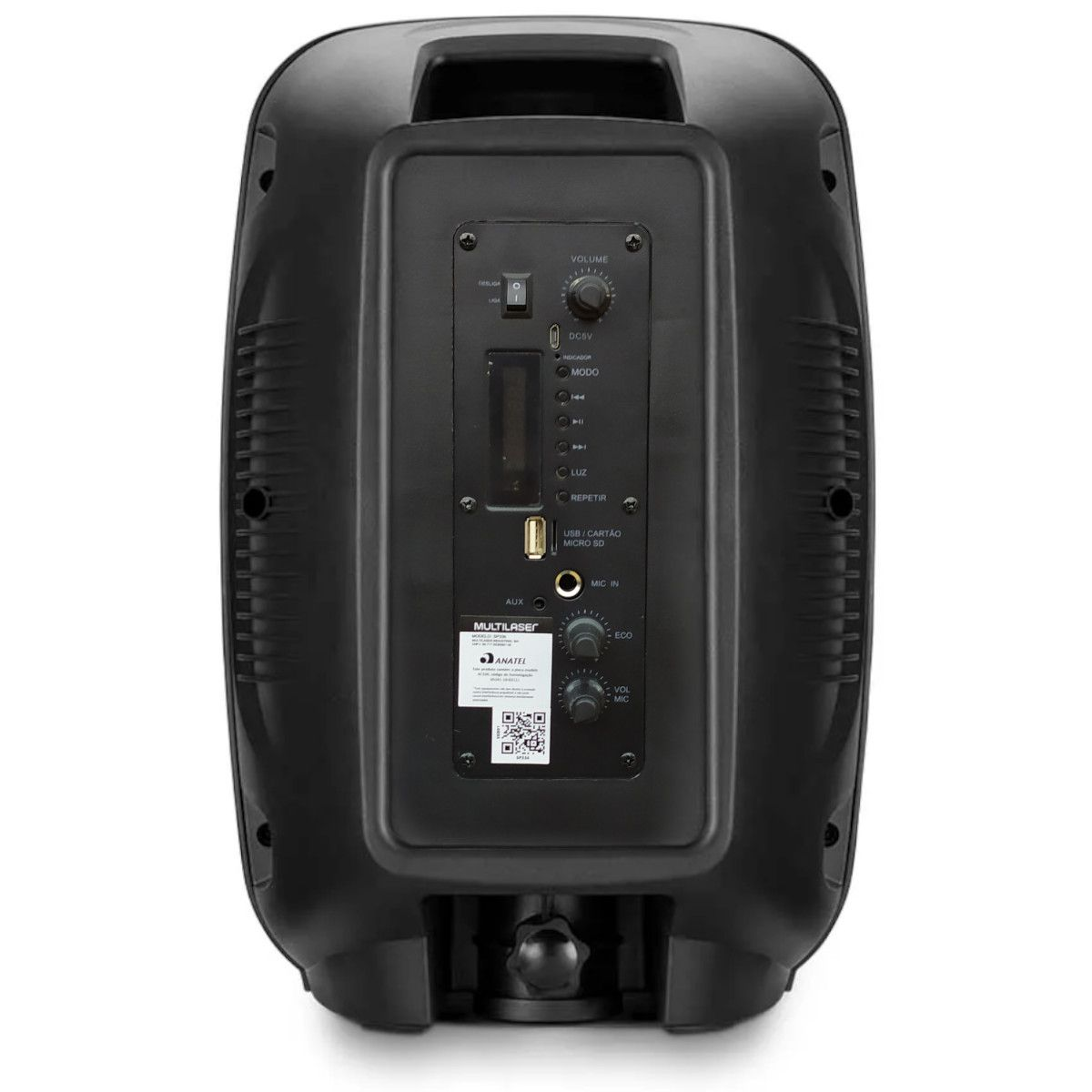 Caixa de Som Multilaser Mini Torre Party TWS Bluetooth 200W RMS Preto – SP336