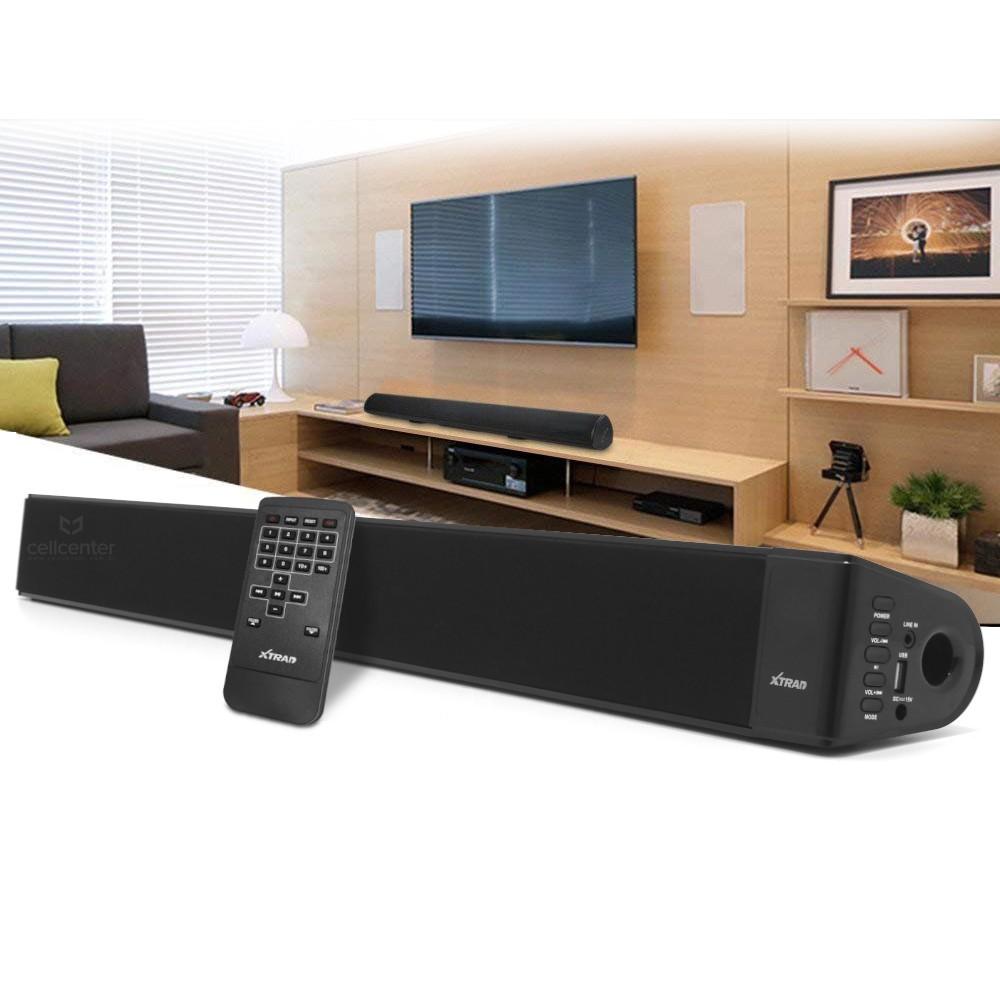 Caixa de Som Soundbar 2.0 Canais, Bluetooth, Entradas USB e Auxiliar, 40W - Xtrad XDG - 43
