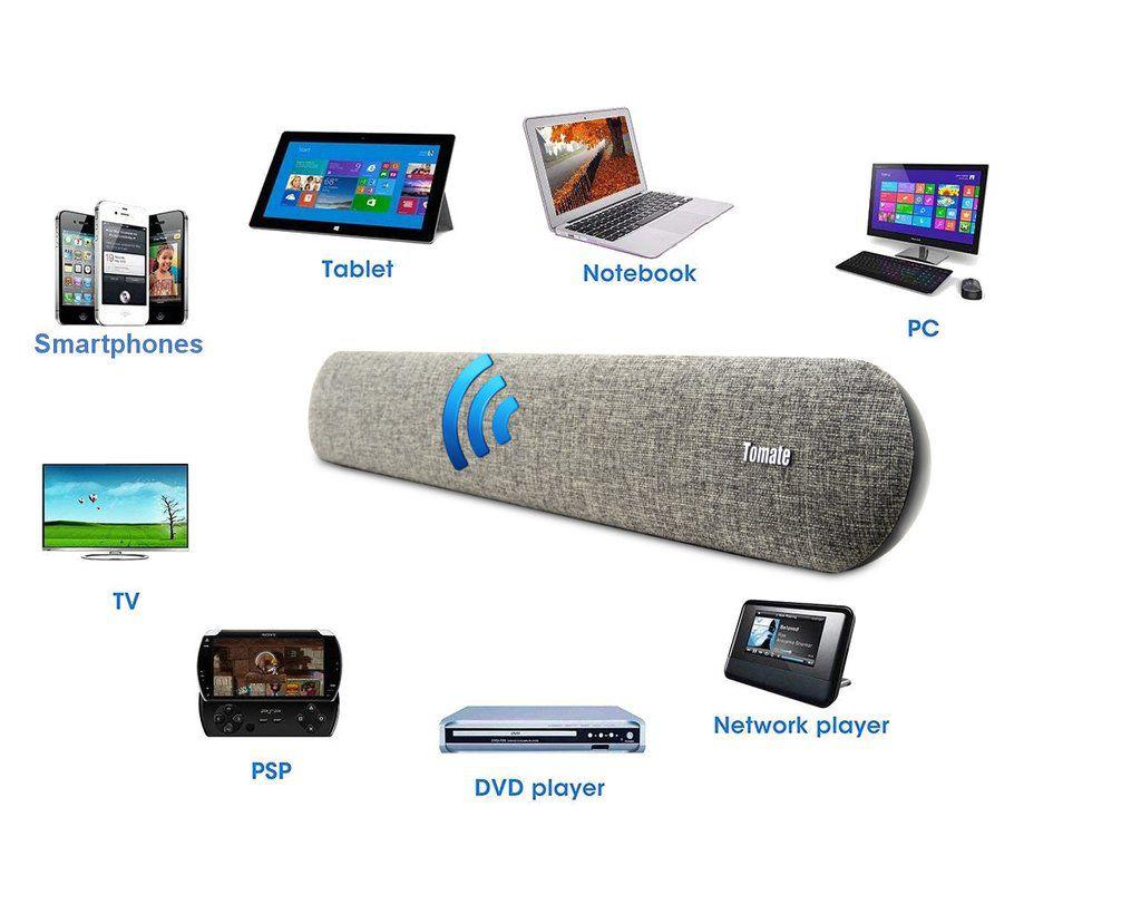 Caixa de Som Soundbar 2.0 Canais, Bluetooth, Entradas USB e Auxiliar, 80W RMS - MTS-2019