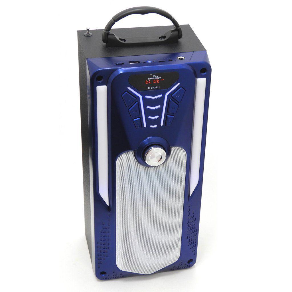Caixa Som Portátil Bluetooth USB/FM/SD 20W RMS DBH2811- Azul
