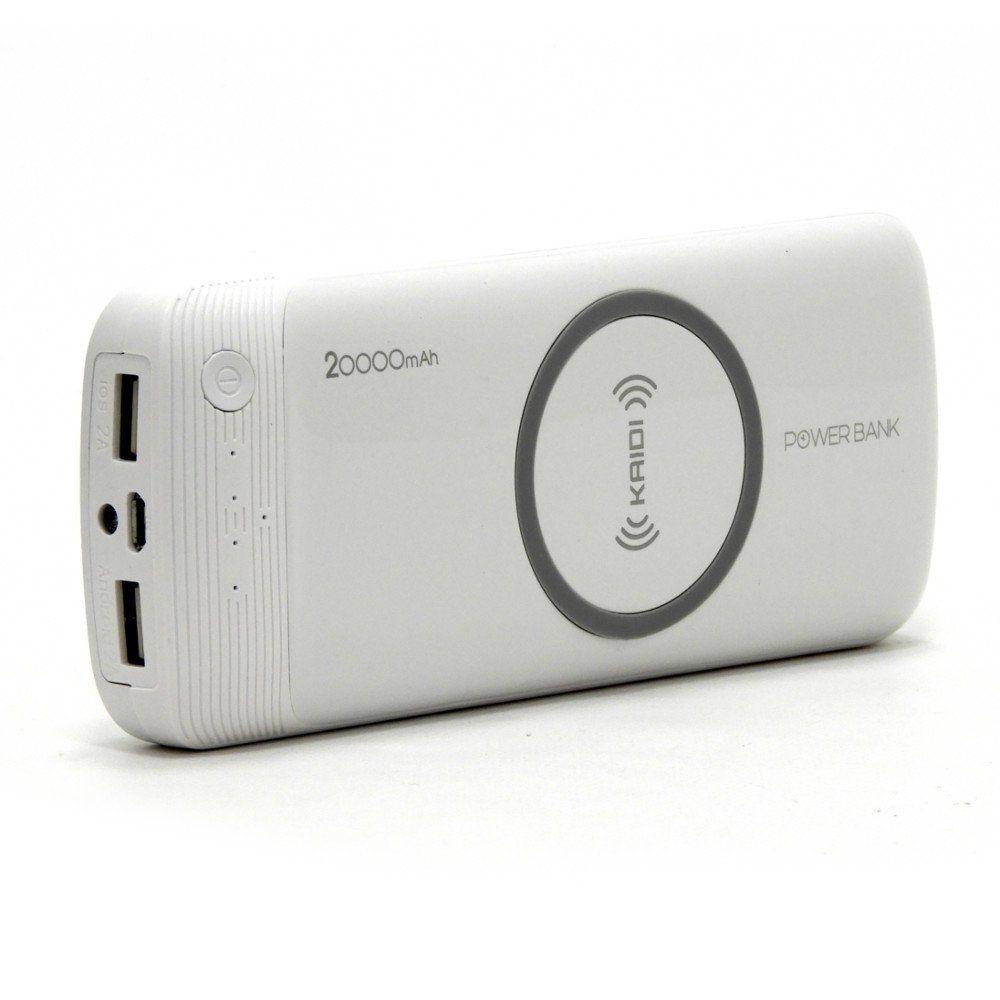 Carregador 2 em 1 Wireless 20000mAh 2 Portas USB  2.0A Kaidi KD790
