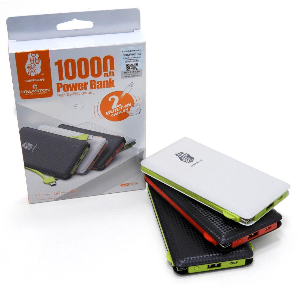 Carregador Portátil 10000mah Type C, Lightining e Micro USB até 3 cargas Pineng PN-956