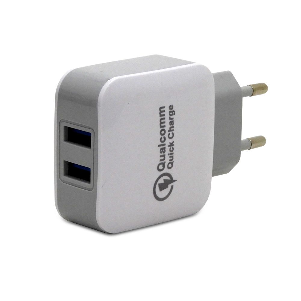 Carregador Turbo PowerIQ com 2 USB 5V 2.4A Bivolt HC-23