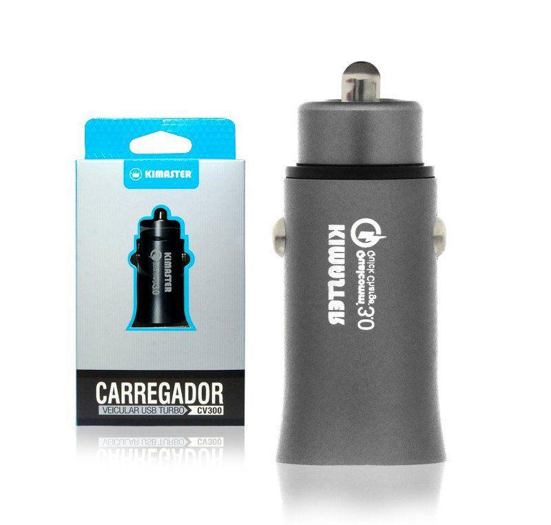 carregador veicular turbo USB KIMASTER  CV300