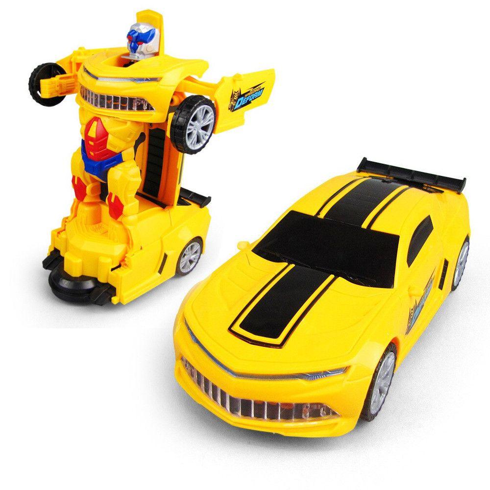 Carro Robot Deform Som Luzes Muito Divertido