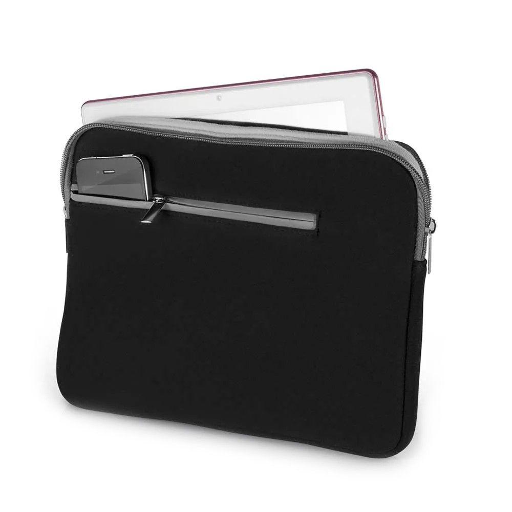 Case Neoprene Para Notebook Até 15,6 Pol. Preto E Cinza Multilaser - BO400