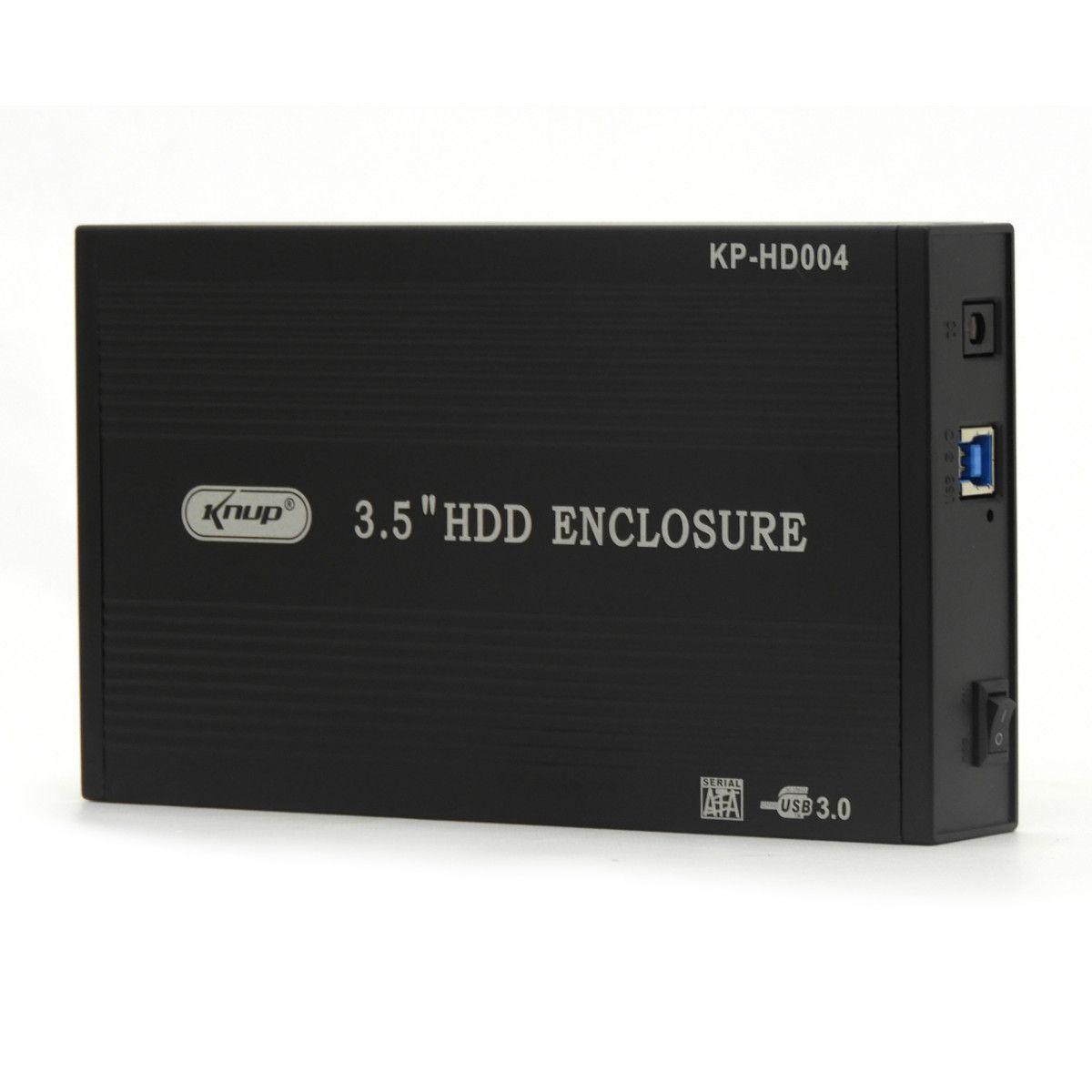 Case Para Hd 3,5 Pc Usb 3.0 Sata Uso Externo Knup Hd004