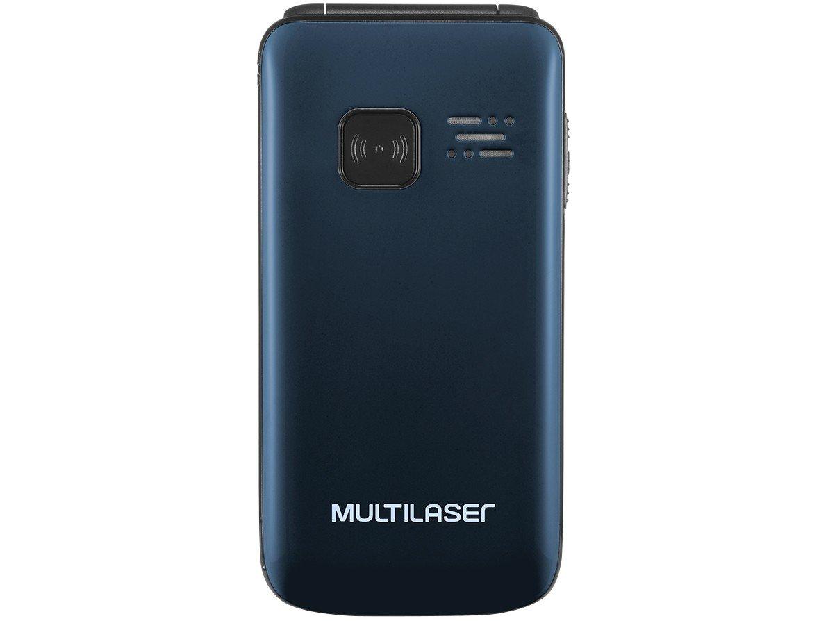 "Celular Multilaser Flip Vita P9043 Tela de 2,4"", Dual Chip, MP3, Câmera VGA, Bluetooth - Azul"