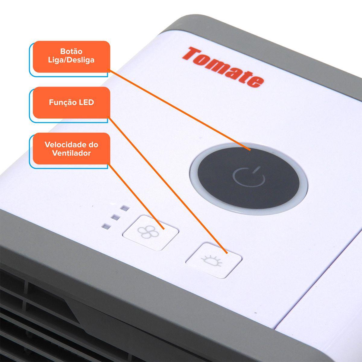Climatizador Portátil Ar-Condicionado Pessoal Refrigerador de Ar Tomate MLF-001