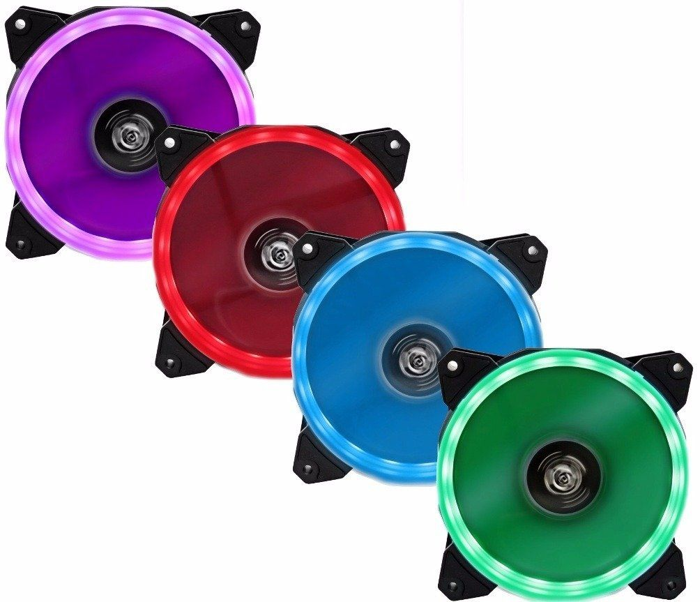 Cooler Fan Hoopson GT120C Games Evotion 120mm com LED RGB que Muda de Cor