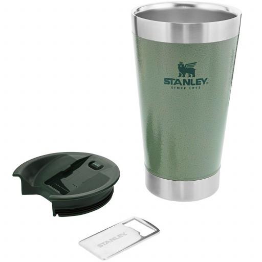 Copo Térmico Para Cerveja Stanley Pint Inox Com Abridor Cor Hammertone Green 473ml