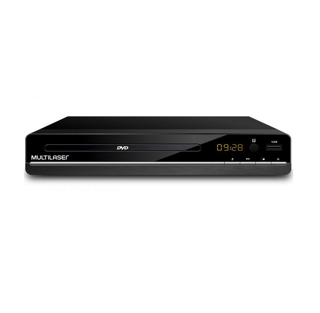 Dvd Player 3 Em 1 Multimídia Usb Multilaser Preto - Sp252