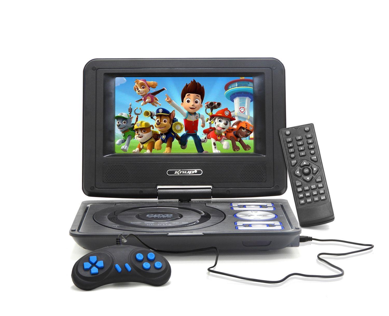 "DVD Portátil LCD 7"" USB TFT FM CD Gamer 300 Jogos com Controle Knup - KD-115"