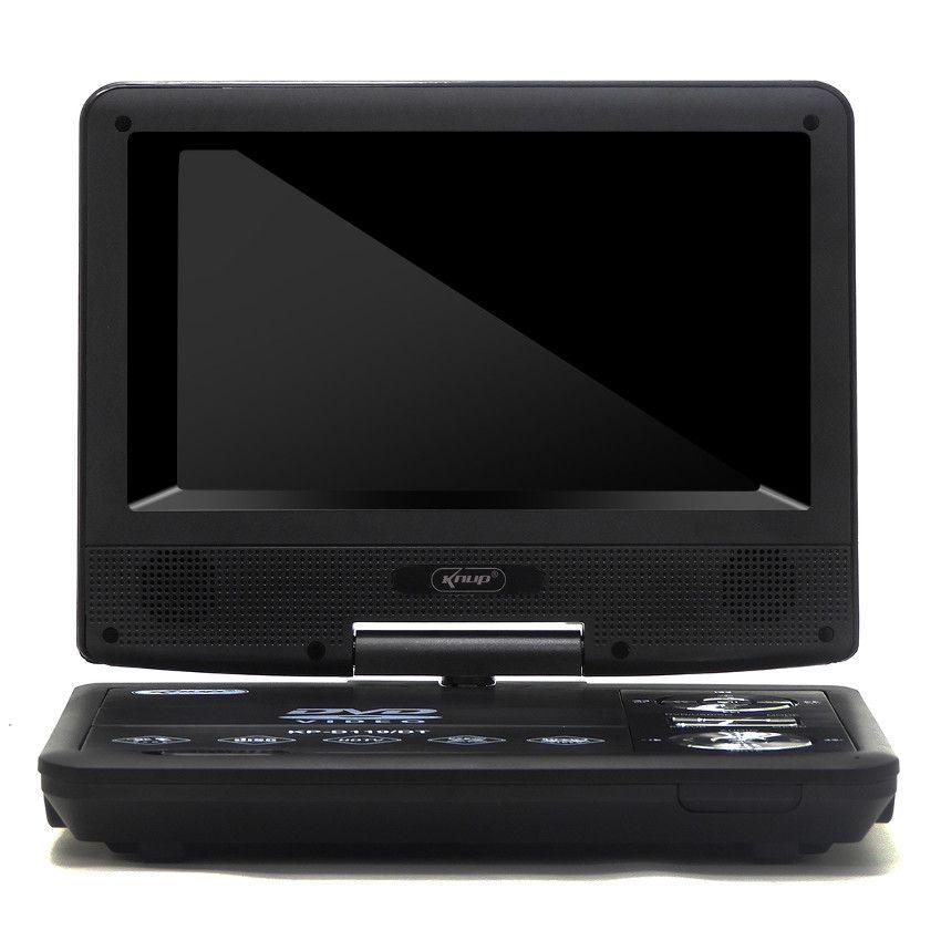 "DVD Portátil LCD 7"" USB 2.0 HDTV TFT FM CD Gamer 300 Jogos com Controle Knup - KD-119"