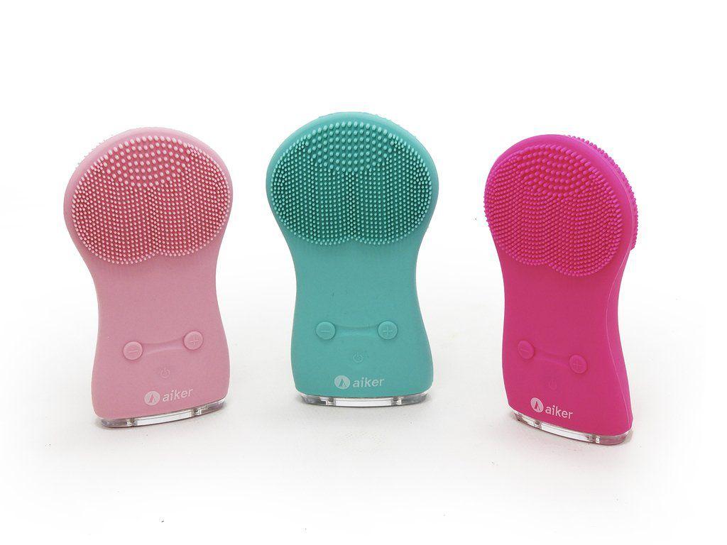 Escova Facial Elétrica de Silicone Impermeável Limpeza Profunda Aiker - AJ003