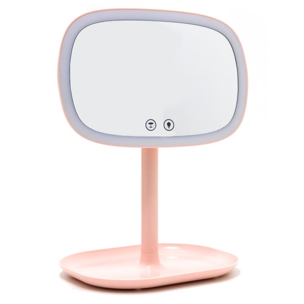 Espelho de Maquiagem organizador de Jóias cosméticos Touch e Control de LED