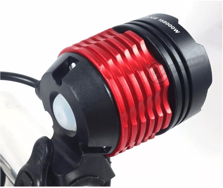 Farol Lanterna Para Bike Led T6 Strobo Recarregável Led 111