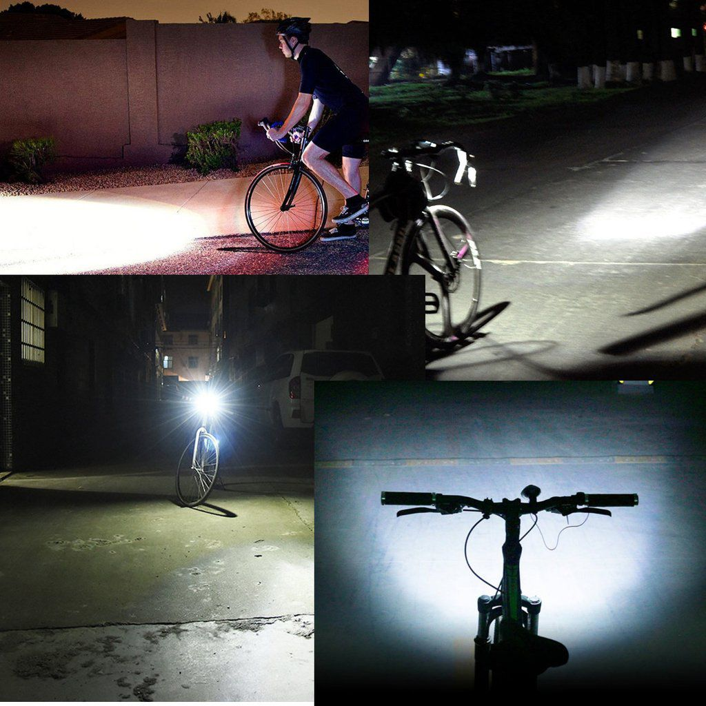 Farol Led Com Buzina Bike Recarregável Usb 140db T6 Cree Xpg