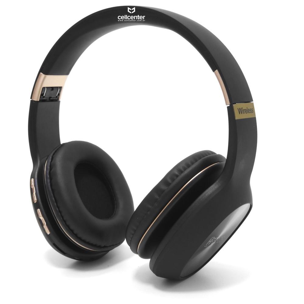 Fone de Ouvido Bluetooth com Microfone FM/TF/Aux Stereo Hrebos HS-187