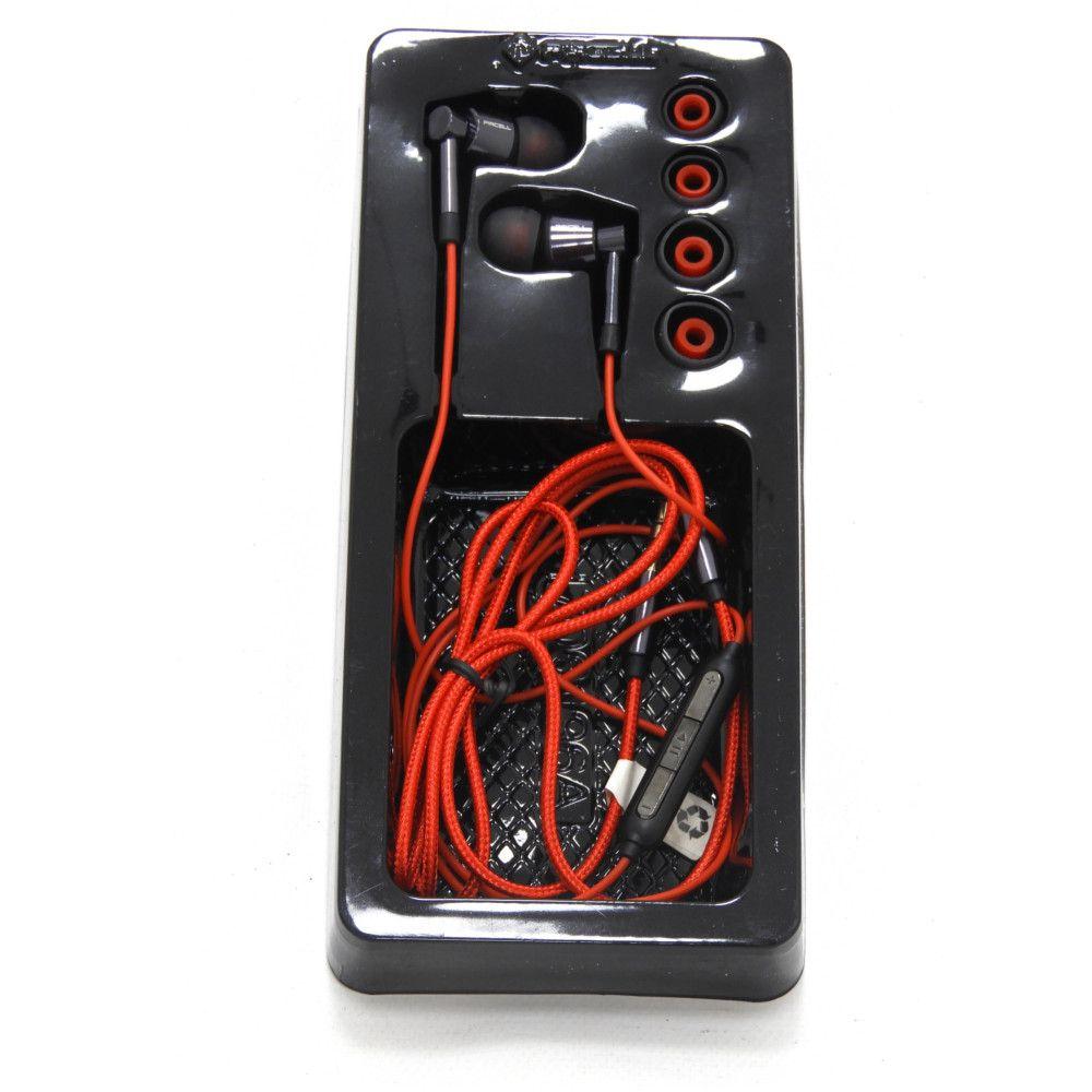 Fone de Ouvido Para Celular Cromo Microfone Pmcell FO-33 Preto