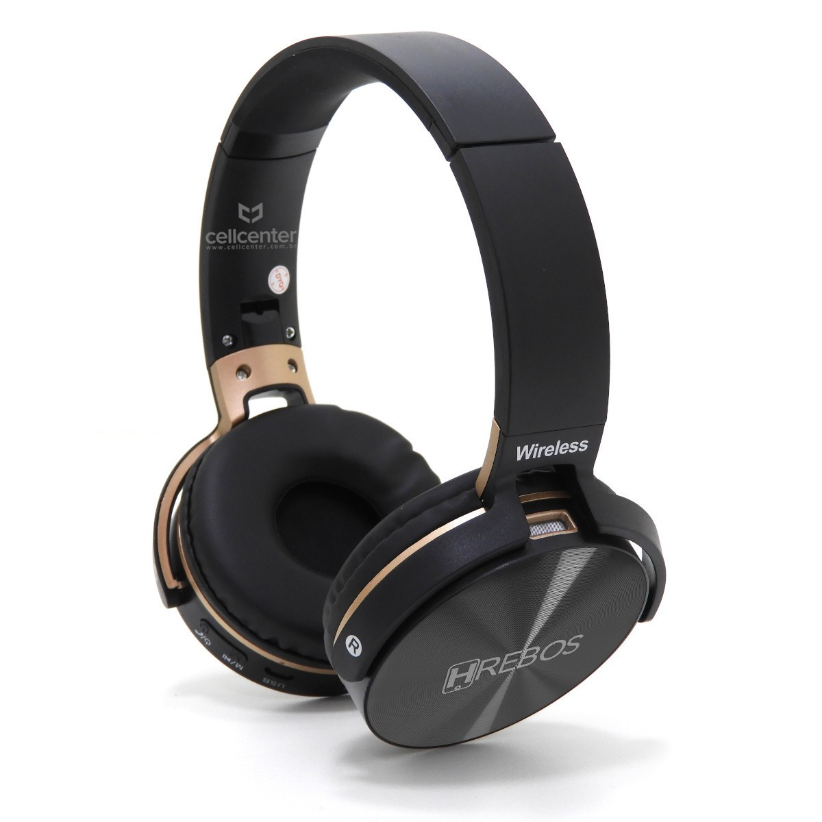 Fone Headphone Headset Bluetooth Entrada Sd Rádio Fm Stereo