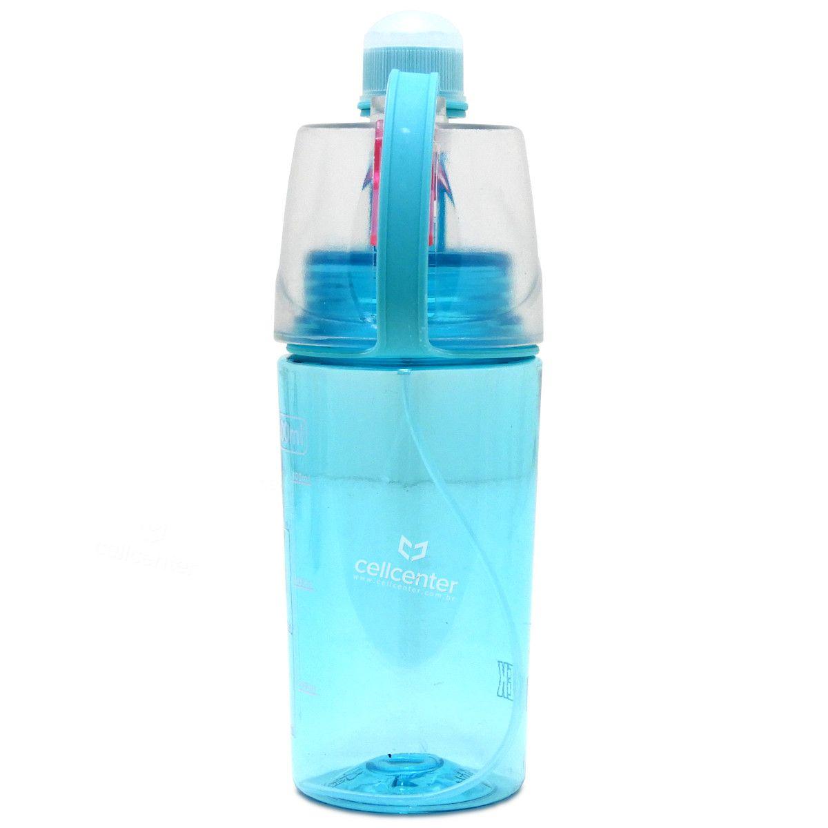 Garrafa de àgua Esportiva 400Ml Antivazamento Função Spray Luatek LKZ-713