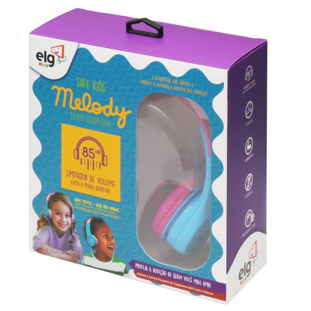 Headphone Estéreo 30mW com Limitador de Volume Melody Safe Kids