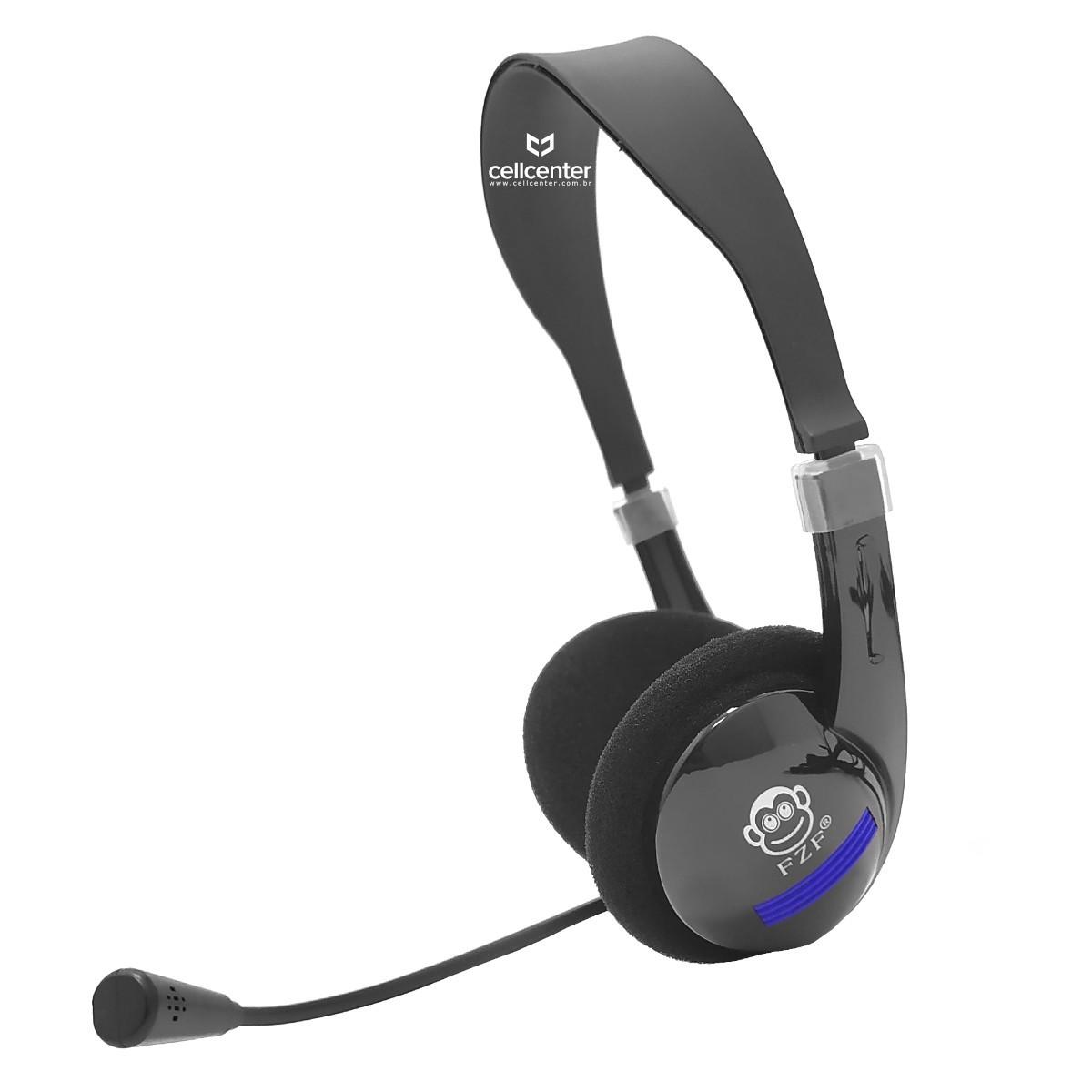 Headphone Gamer PC, Tablet e Celular Com Microfone ZF-G6