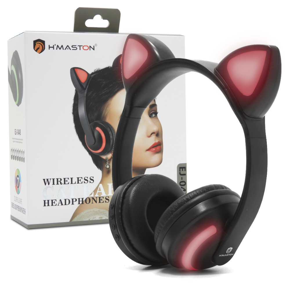 Headphone Orelha de Gatinho Bluetooth H' Maston EJ-048