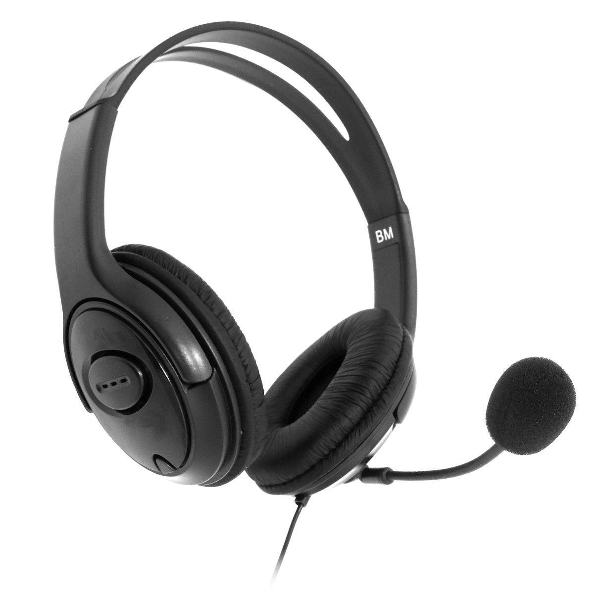 Headset Gamer Para Xbox 360 Com Microfone E Controle De Volume